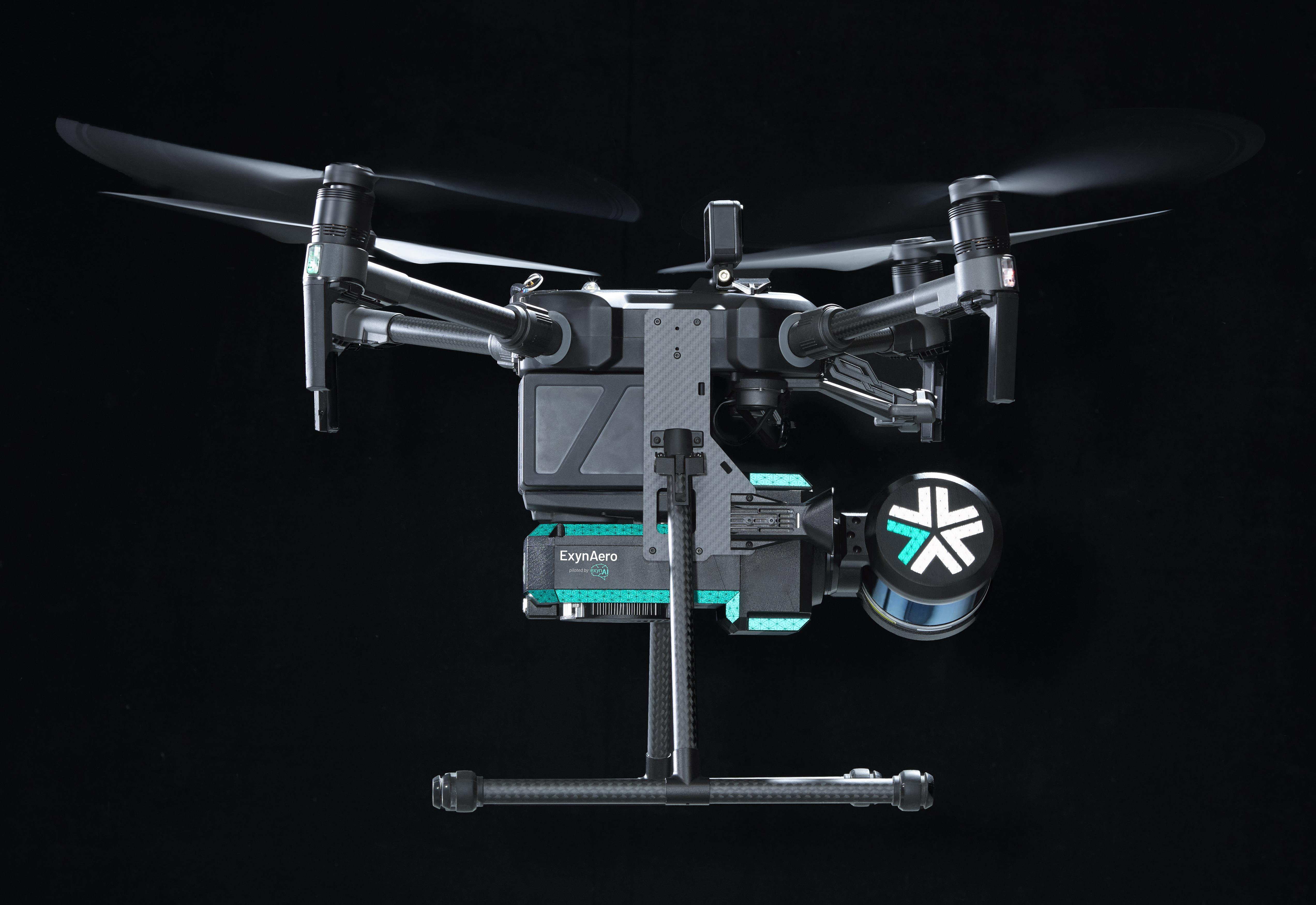 Exyn Drone flies in a mine