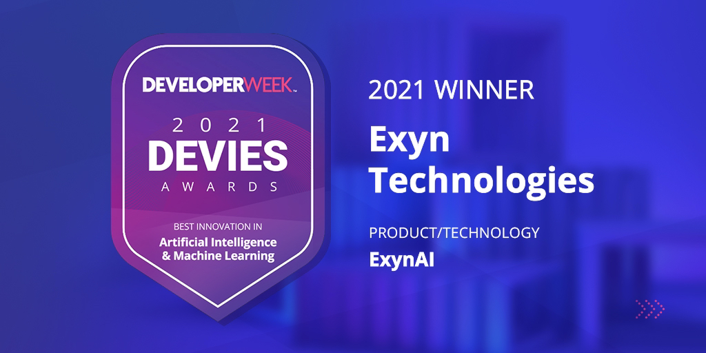 Exyn Wins 2021 DEVIES Award in Artificial Intelligence & Machine Learning