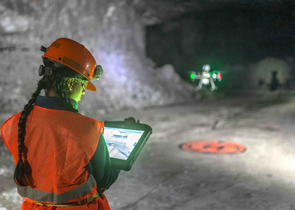 Flying Exyn's autonomous drones in an underground mine.