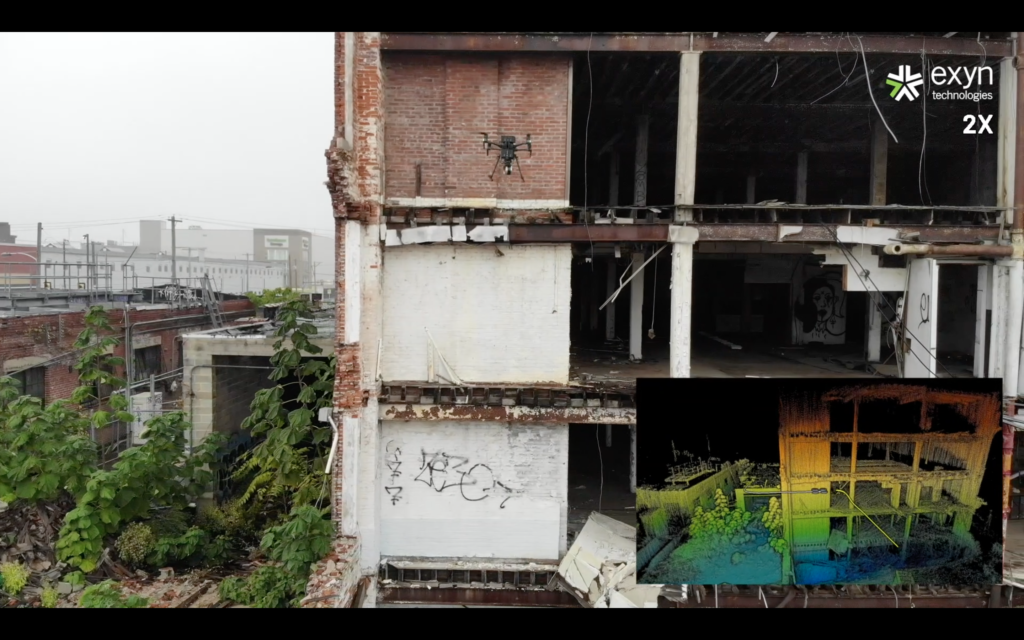 aerial robot mapping abandoned warehouse