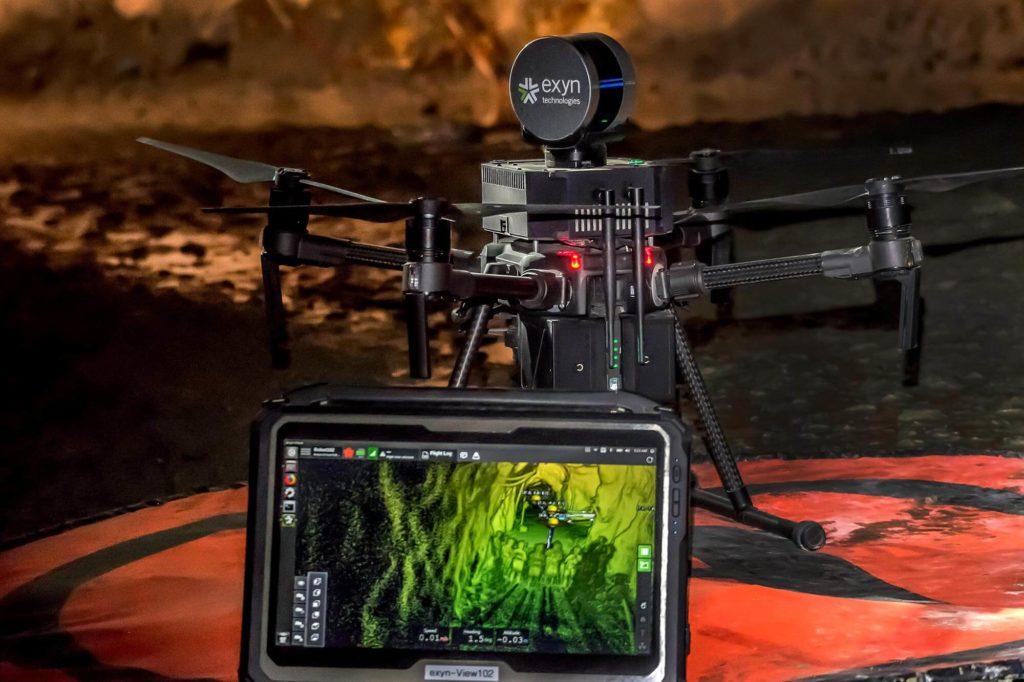 autonomous aerial mine robot