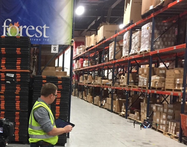 Warehouse inventory mapping