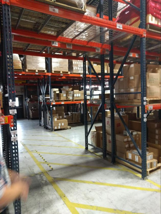 Shot of the warehouse
